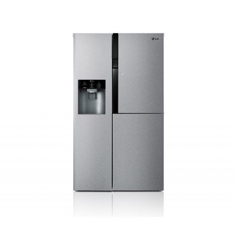 یخچال ساید بای ساید سامسونگ مدل جی آر جی 257 طراحی: یکی از طراحی های زیبا که در محصولات شرکت ال جی به چشم میخورد طراحی درب روی درب است.با این ویژگی شما میتوانید مواد غذایی پر مصرف خود را در این درب قرار داده و بنابر این از باز شدن مکرر درب جلوگیری شده و از نفوذ هوای گرم به داخل یخچال جلوگیری میشود که نتیجه ی این اقدام صرفه جویی در مصرف انرژی است. ظرفیت زیاد این یخچال فضای ذخیره سازی بالایی را برای شما مهیا میکند و به راحتی میتوانید مواد غذایی زیادی را در یخچال قرار داده و با کمبود مکان رو به رو نشوید.چراغ های این یخچال برخلاف سایر یخچال ها در سقف تعبیه نشده اند بلکه در طول یخچال کشیده شده اند.